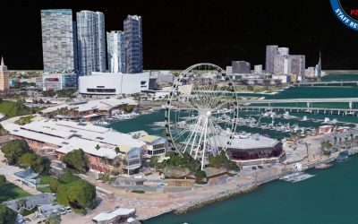 FINALLY, THE 'ICONIC' 176-FOOT SKYVIEWS MIAMI FERRIS WHEEL AT BAYSIDE MARKETPLACE HAS STARTED RISING